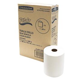 180 metros – Caja con 6 piezas . Toalla en Rollo para Manos PÉTALO. 6 Rollos de 180 mts c/u. Toalla de manos de Alto nivel, gran capacidad de absorción y resistencia. Su centro de 2 pulgadas permite usar la toalla en la mayoría de los despachadores del mercado. Color Blanco.